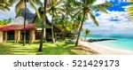 luxury tropical vacation.... | Shutterstock . vector #521429173