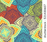 ethnic floral seamless pattern | Shutterstock .eps vector #521430607