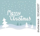 merry christmas vector with... | Shutterstock .eps vector #521432257