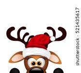 funny reindeer on white...   Shutterstock . vector #521435617