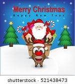merry christmas  | Shutterstock .eps vector #521438473