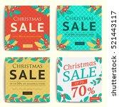 christmas social media sale...   Shutterstock .eps vector #521443117