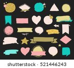 fashion patch badges and... | Shutterstock .eps vector #521446243