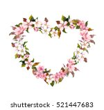 Floral Wreath   Heart Shape....