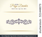 new calligraphic page divider... | Shutterstock .eps vector #521448073