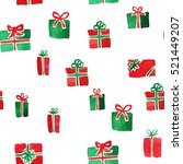various christmas presents in... | Shutterstock . vector #521449207
