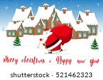 merry christmas and happy new... | Shutterstock .eps vector #521462323