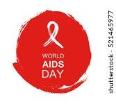 hand drawn red aids hiv ribbon