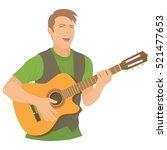 singer  guitarist  ...   Shutterstock .eps vector #521477653