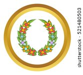 funeral wreath vector icon in...