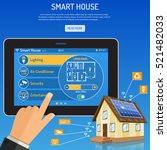 smart house and internet of... | Shutterstock .eps vector #521482033