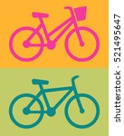 womens bike on orange...   Shutterstock .eps vector #521495647