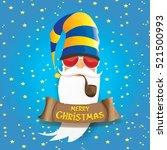 vector rock n roll santa claus... | Shutterstock .eps vector #521500993