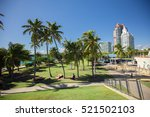 south beach  miami beach.... | Shutterstock . vector #521502103