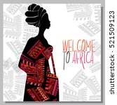 ethnic background with african... | Shutterstock .eps vector #521509123