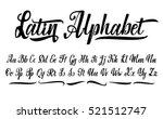 vector alphabet. calligraphic... | Shutterstock .eps vector #521512747