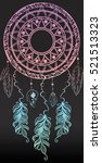 colorfull dreamcatcher with... | Shutterstock .eps vector #521513323