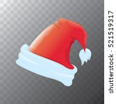 vector cartoon funky red santa... | Shutterstock .eps vector #521519317