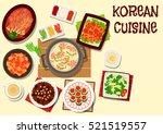 korean cuisine traditional... | Shutterstock .eps vector #521519557