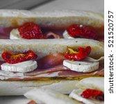 fresh sandwich for sale in paris | Shutterstock . vector #521520757