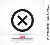 wrong mark . line vector icon | Shutterstock .eps vector #521529523