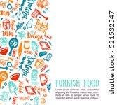 turkish food hand drawn set...   Shutterstock .eps vector #521532547