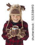 Young Boy With A Funny Moose...