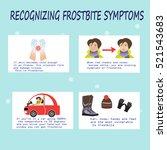 recognizing frostbite symptoms.   Shutterstock .eps vector #521543683