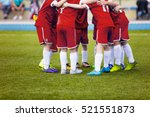 young football soccer players... | Shutterstock . vector #521551873