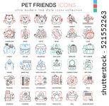 vector pet friend color line... | Shutterstock .eps vector #521552263
