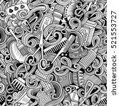 cartoon line art cute doodles... | Shutterstock .eps vector #521553727