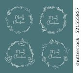 vector set. christmas and new... | Shutterstock .eps vector #521555827