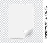new white page curl on blank... | Shutterstock .eps vector #521560267