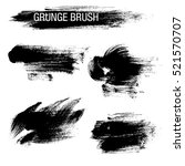vector set of grunge brush... | Shutterstock .eps vector #521570707