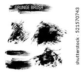 vector set of grunge brush... | Shutterstock .eps vector #521570743