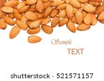 Almonds On A White Background...