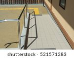 concrete ramp for wheelchair... | Shutterstock . vector #521571283
