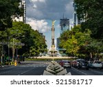 paseo de la reforma avenue and...   Shutterstock . vector #521581717