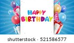 birthday celebration background | Shutterstock . vector #521586577