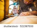 electric woodworking   Shutterstock . vector #521587033