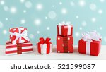 christmas background with gift... | Shutterstock . vector #521599087