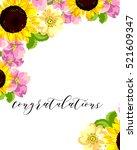 vintage delicate invitation... | Shutterstock .eps vector #521609347