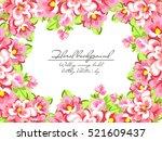 vintage delicate invitation... | Shutterstock .eps vector #521609437