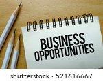 business opportunities text... | Shutterstock . vector #521616667