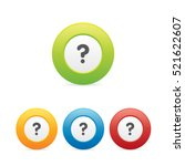 colorful question mark icons | Shutterstock .eps vector #521622607
