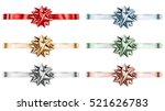 set of beautiful big shiny bows ... | Shutterstock . vector #521626783