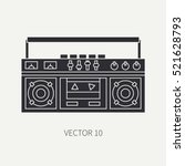 silhouette vector icon with...   Shutterstock .eps vector #521628793