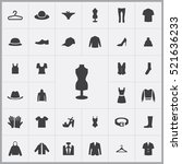 clothes icons universal set for ... | Shutterstock .eps vector #521636233