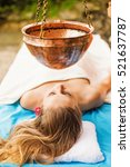 woman getting ayurvedic... | Shutterstock . vector #521637787