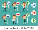 set of businessman and women... | Shutterstock .eps vector #521639833